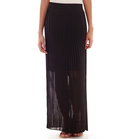 b2f1d0c9af Worthington Skirts | Pleated Maxi Skirt Sheer With Lining | Poshmark